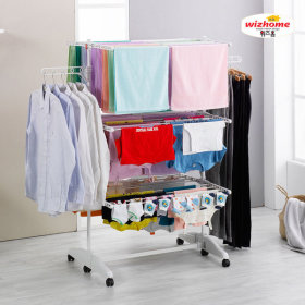 WIZHOME clothes drying rack 6-tier