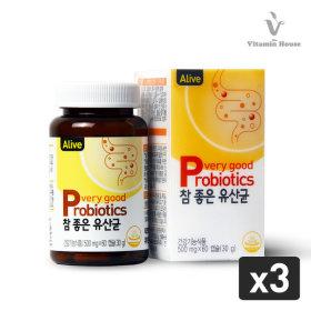 참 좋은 유산균 3병 / 프리바이오틱스 쾌변+냉장배송