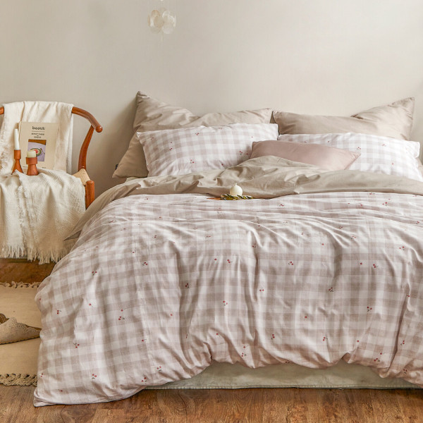 아이르 디자인패턴 이불커버 순면 트윌 평직 침대커버 상품이미지
