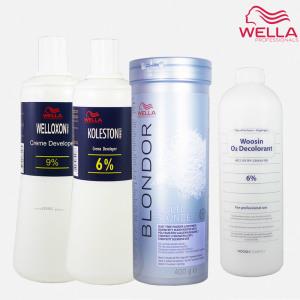 [웰라]웰라 블론드 탈색약 400g 전문가용 산화제증정 염색약
