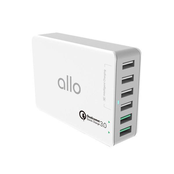 6포트 퀄컴 QC3.0 초고속 멀티 충전기 allo UC601QC 상품이미지