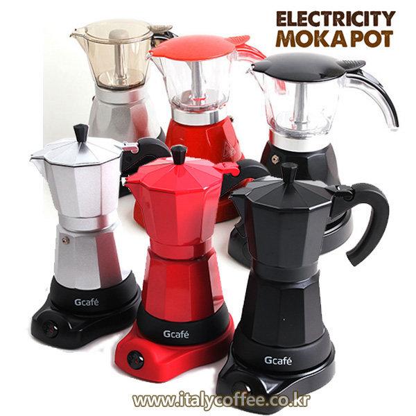 G-cafe 전기 모카포트 투명 6컵 4-6인용 커피메이커 상품이미지