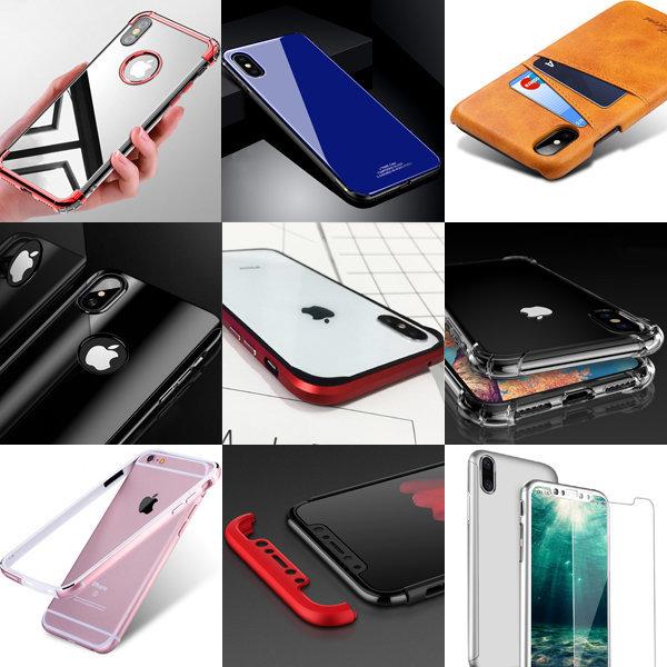 아이폰X 6 S 7 8 플러스 풀커버 케이스 투명 범퍼 상품이미지