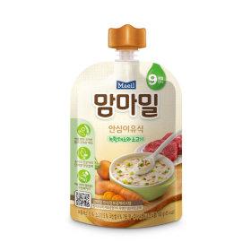 (묶음할인)매일유업_맘마밀안심이유식녹황채소와소고기9개월_100G