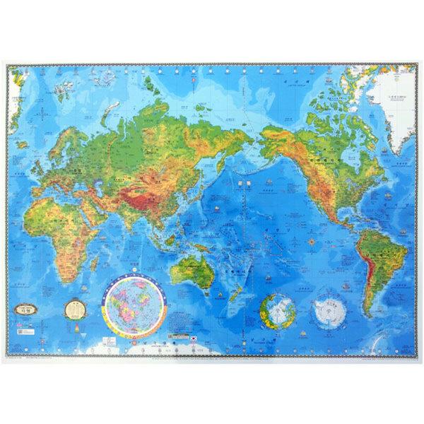 뉴월드 양면코팅형 대형 세계지도-지형/ 뉴월드지구본 상품이미지