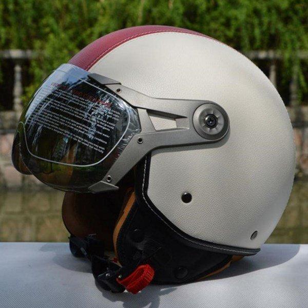 GXT 가죽 빈티지 복고풍 오토바이 헬멧 상품이미지