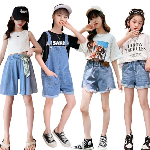 8P 쥬 주니어의류 초등학생옷 여아 멜빵/G주청반바지 상품이미지