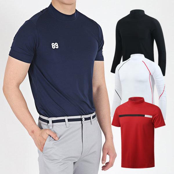 남성 골프 이너웨어 하프넥 반팔 긴팔 남성골프웨어 상품이미지