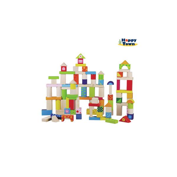 원목쌓기블럭100p/장난감/원목교구/카프라/도형쌓기 상품이미지