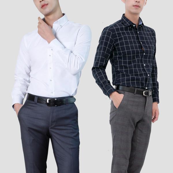 신상 긴팔 와이셔츠/반슬림형 표준형/드레스셔츠/정장 상품이미지