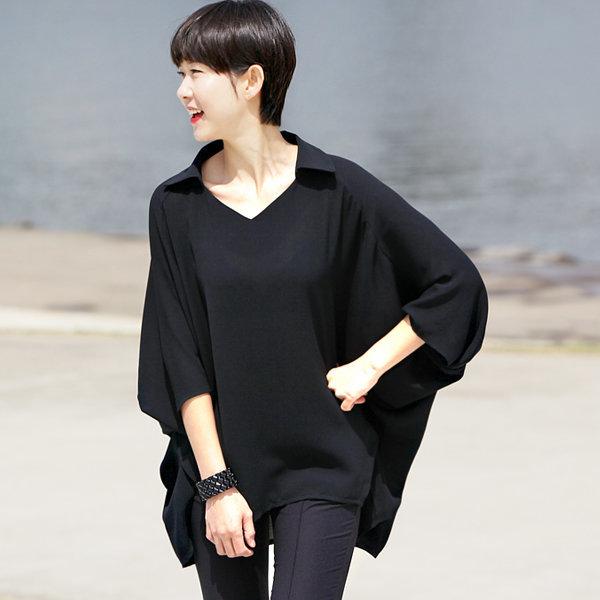 66-100 블랙센스블라우스탑 빅사이즈셔츠 여성큰옷빅 상품이미지