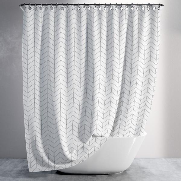 샤워커튼 욕실 화장실 용품 커텐 압축 봉 화이트 방수 상품이미지