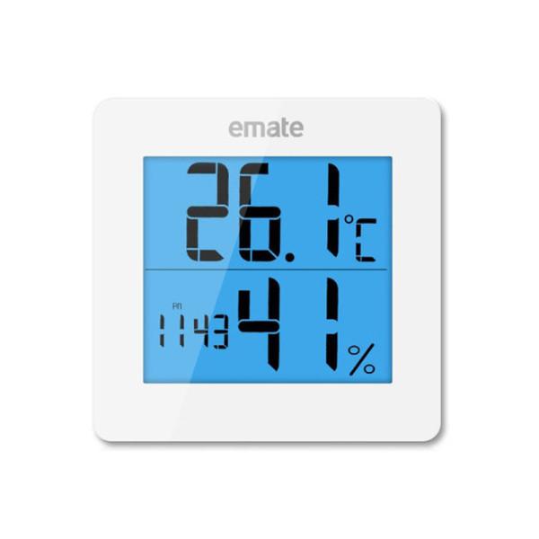 EMATE 온습도계 LED-화이트(알람 시계 온도계 습도계) 상품이미지