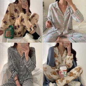 Teddy Bear/Pajamas/Pyjamas/Silk/Dot