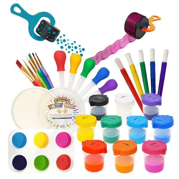 아티바바 미술도구 물감 놀이 공예 붓 파렛트 색칠 상품이미지