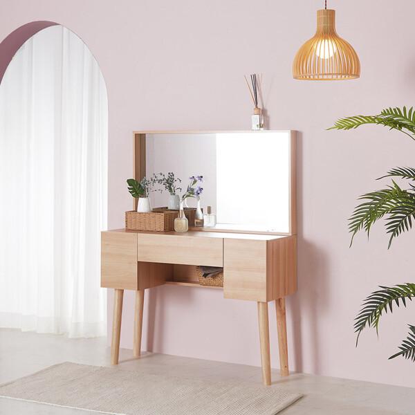 (현대Hmall) 파로마 스완 화장대/수납화장대 (의자별매) 상품이미지