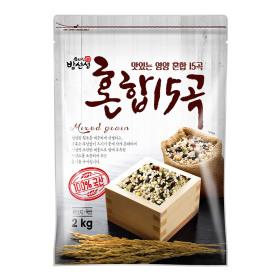 혼합15곡 2kg 국산 잡곡  밥선생 2017년산