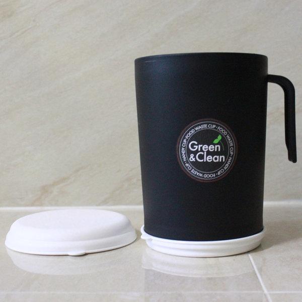 홈앤홈 핸디컵 블랙 음식물쓰레기통 1L 음식물수거통 상품이미지