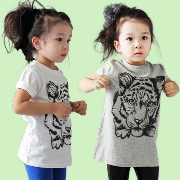 해외배송 아동 호랑이 반팔 티/셔츠/의류/유아/옷 상품이미지