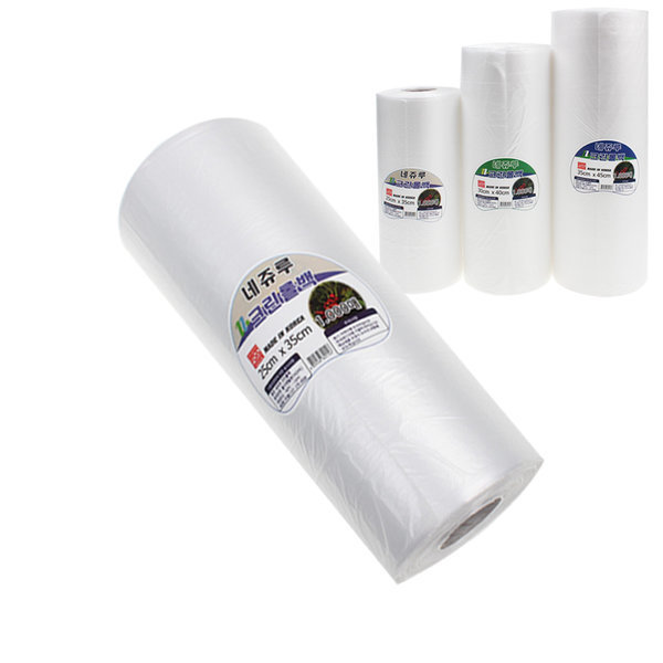 네쥬루 크린 롤백 대용량 1.000매 위생팩 비닐팩 롤팩 상품이미지