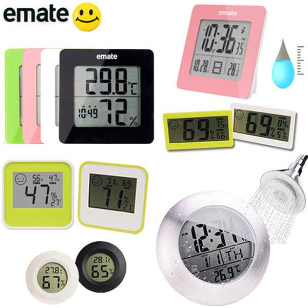 emate 디지털 온습도계/ 욕실 방수시계 습도계 온도계 상품이미지