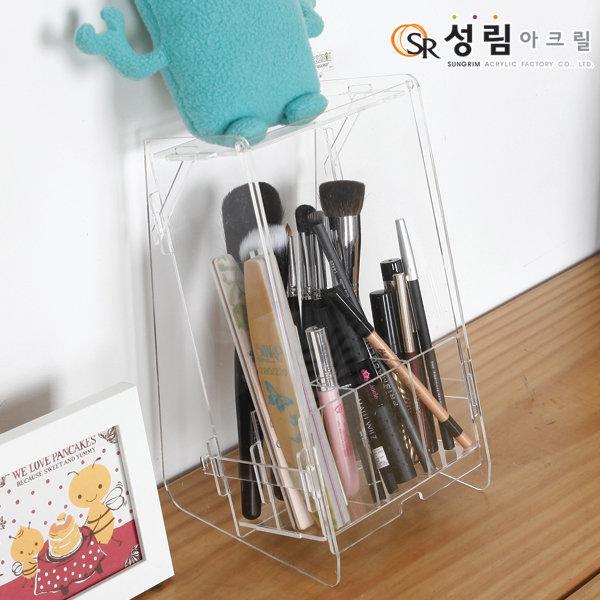 뚜껑있는 브러쉬 정리대 화장품 정리함 펜슬 보관함 상품이미지