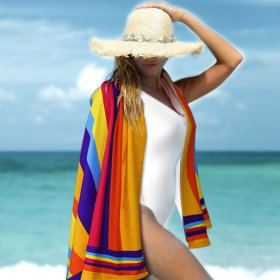 Beach towel collection / arm insertable beach towel / 1500mmX700mm/800nn / 1800mmX1000mm /