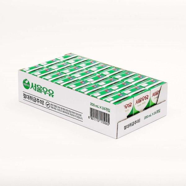 (행사상품)서울 멸균흰우유 200MLx24 박스 상품이미지