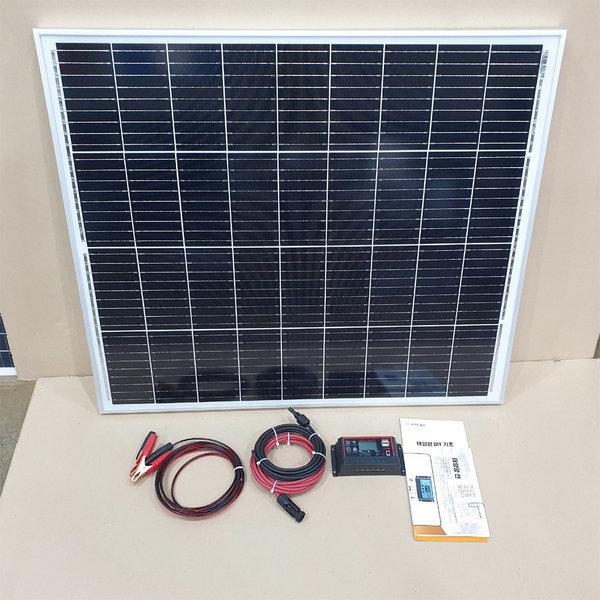 100W 태양전지판 + 10A콘트롤러 + 커넥터세트 상품이미지