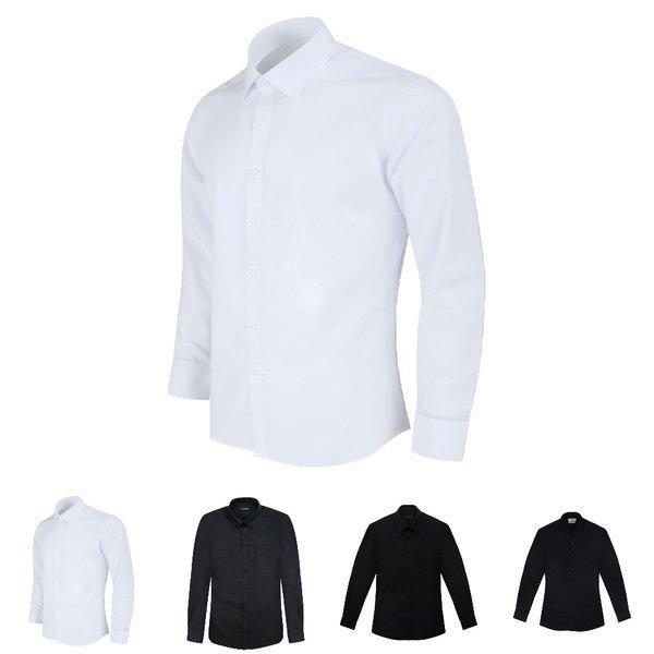 긴팔 와이셔츠 슬림셔츠 일반셔츠 스판셔츠 솔리드 상품이미지