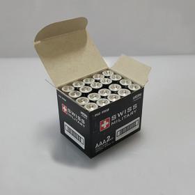 스위스밀리터리 알카 AAA 건전지 LR03 1.5V 20알 벌크