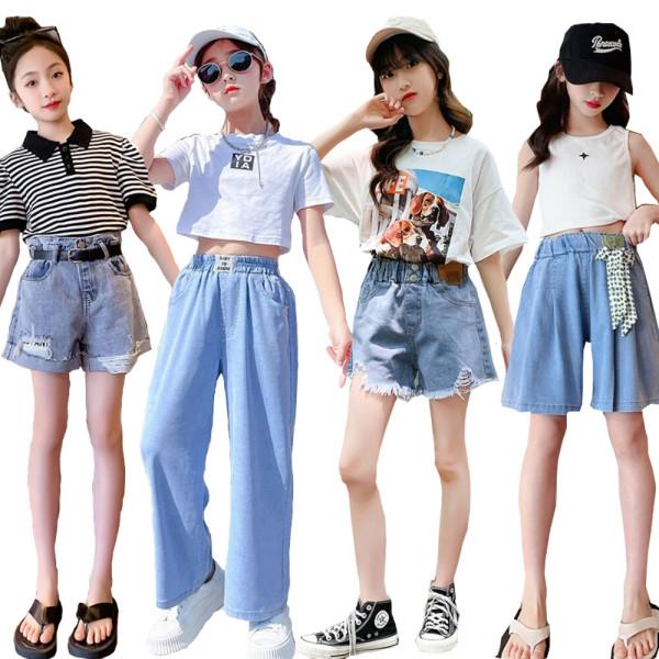 4P 쥬 주니어의류 초등학생옷 여아 멜빵/G주청바지 상품이미지