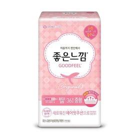 (2+1)(생리대)유한킴벌리_좋은느낌에어핏쿠션울트라날개_중형36매