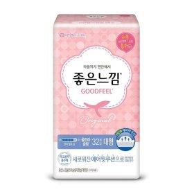 (2+1)(생리대)유한킴벌리_좋은느낌에어핏쿠션울트라날개_대형32매