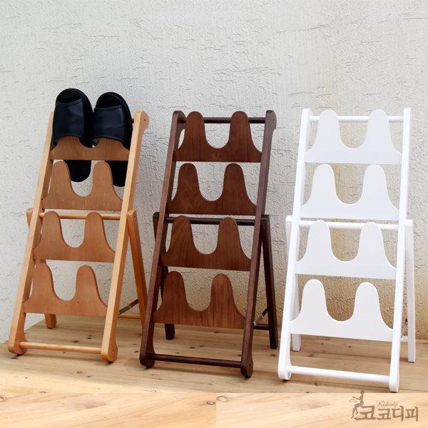 우드 나무 원목 슬리퍼 걸이 실내화거치대 신발정리대 상품이미지