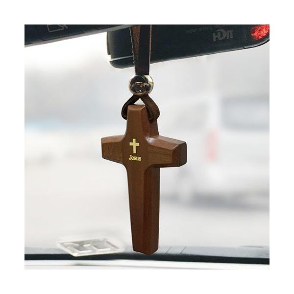 차량용십자가/교회용품/차량걸이 원목별십자가 상품이미지
