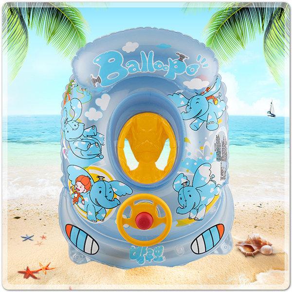 유아용 발루뽀 보행기 튜브(블루)/수영장 물놀이 튜브 상품이미지