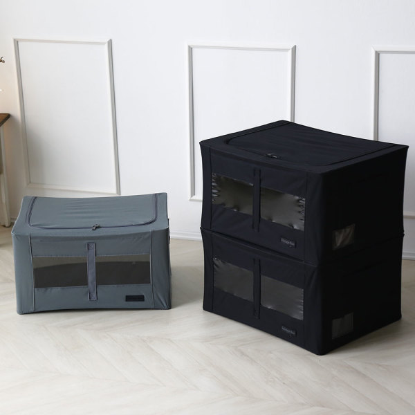56L 리빙박스 1+1 /의류수납함 옷수납 정리박스 상품이미지