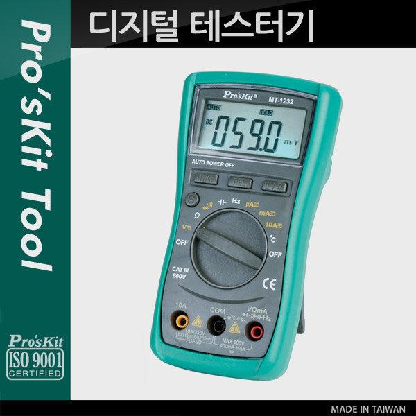 (PROKIT) DC AC 전류 디지털 테스터기(MT-1232)/PK093 상품이미지