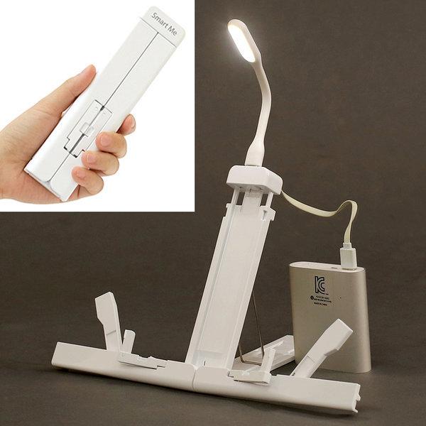 스마트미 휴대용 독서대  USB LED 라이트 북스탠드 상품이미지