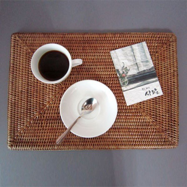 라탄 테이블매트 (내츄럴 브라운 / 대사이즈) 상품이미지
