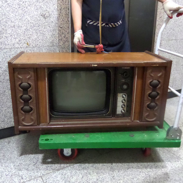 귀한 자바라텔레비젼(대한전선흑백 테레비/자바라티비 상품이미지