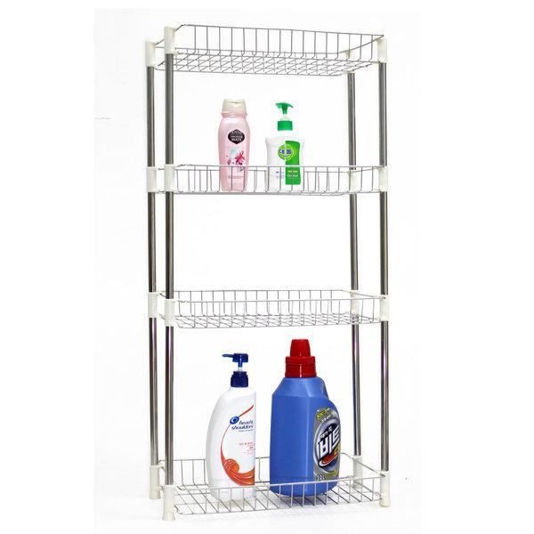 LUX 스텐 사각선반(4단-높은형) 욕실선반 다용도 코너 상품이미지