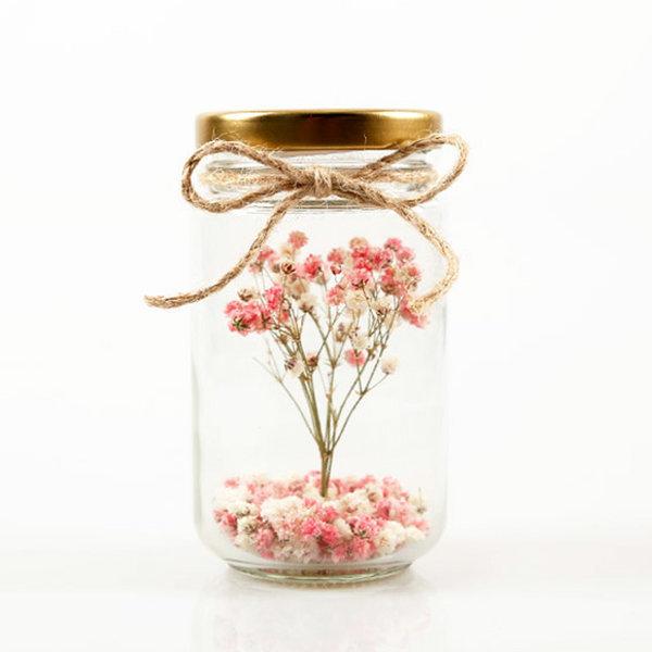 드라이플라워 꽃병선물 생일화병배달/기념일장미안개 상품이미지