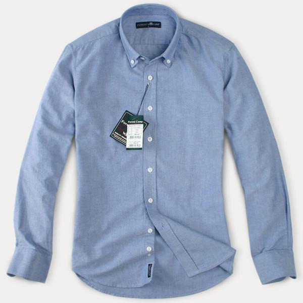 (현대Hmall) FOREST CAMP High Quality Oxford Cotton Shirts /옥스포드 긴팔 남방 YO6350-Royal 상품이미지