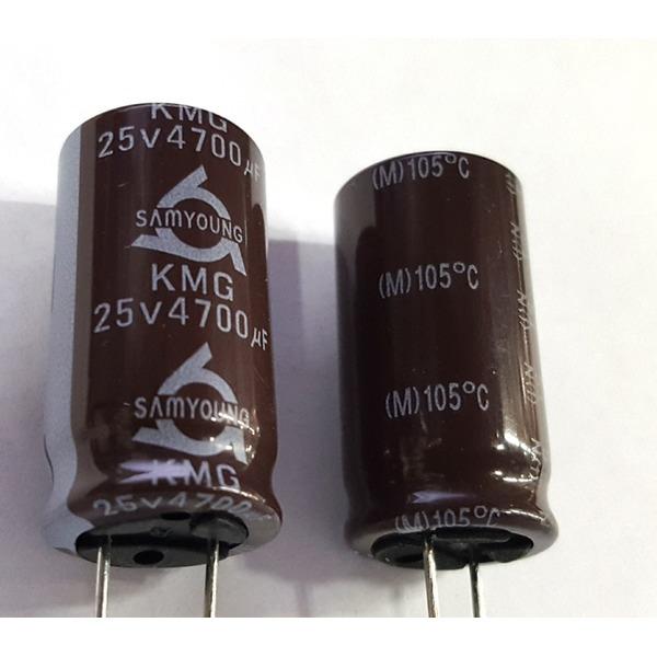 전해콘덴서 4700UF25V  105  50종류 모아콘덴서 상품이미지