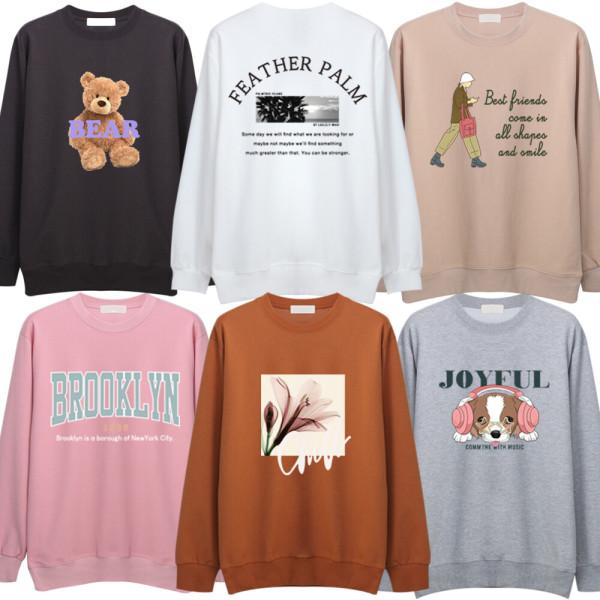 고퀄유니크 가을 맨투맨 후드티 여성의류 티셔츠 반팔 상품이미지