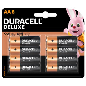 (1+1)듀라셀_디럭스알카라인건전지AA_8입