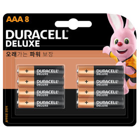 (1+1)듀라셀_디럭스알카라인건전지AAA_8입