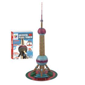 내가 만드는 세계유명건축물 3D입체퍼즐-동방명주탑
